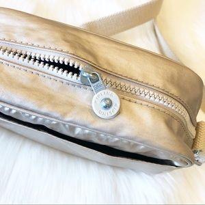 Kipling Bags - Kipling Gold Metallic Crossbody Nylon Bag Purse